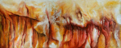A Step Within, oil and acrylic on canvas, 100 x 40 cm, 2006