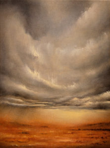 Enigmatic Descent, oil on canvas, 30 x 40 cm, 2011