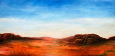 Kata Tjuta, oil on canvas, 82 x 46 cm, 2016