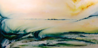 Opalescent Entheogen, oil on canvas, 92 x 46 cm, 2013