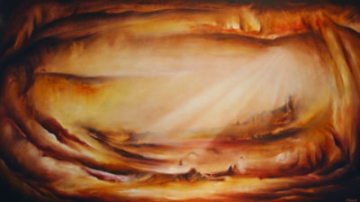 Radiant Illusion, oil on canvas, 152 x 86 cm, 2008