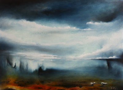 Reflected Storm, oil on canvas, 60 x 46 cm, 2013