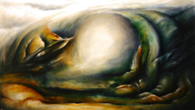 Shrouded Deviation, oil on canvas, 152 x 86 cm, 2008