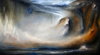 Within the mist, oil on canvas, 152 x 86 cm, 2008